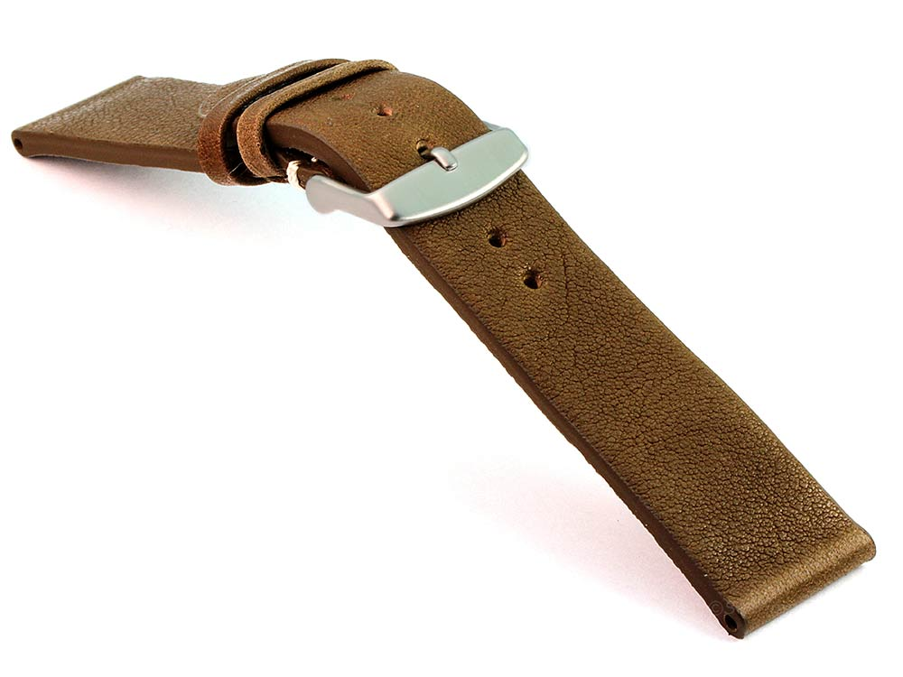 Genuine Leather Watch Strap Band Prague Coyote Brown 03
