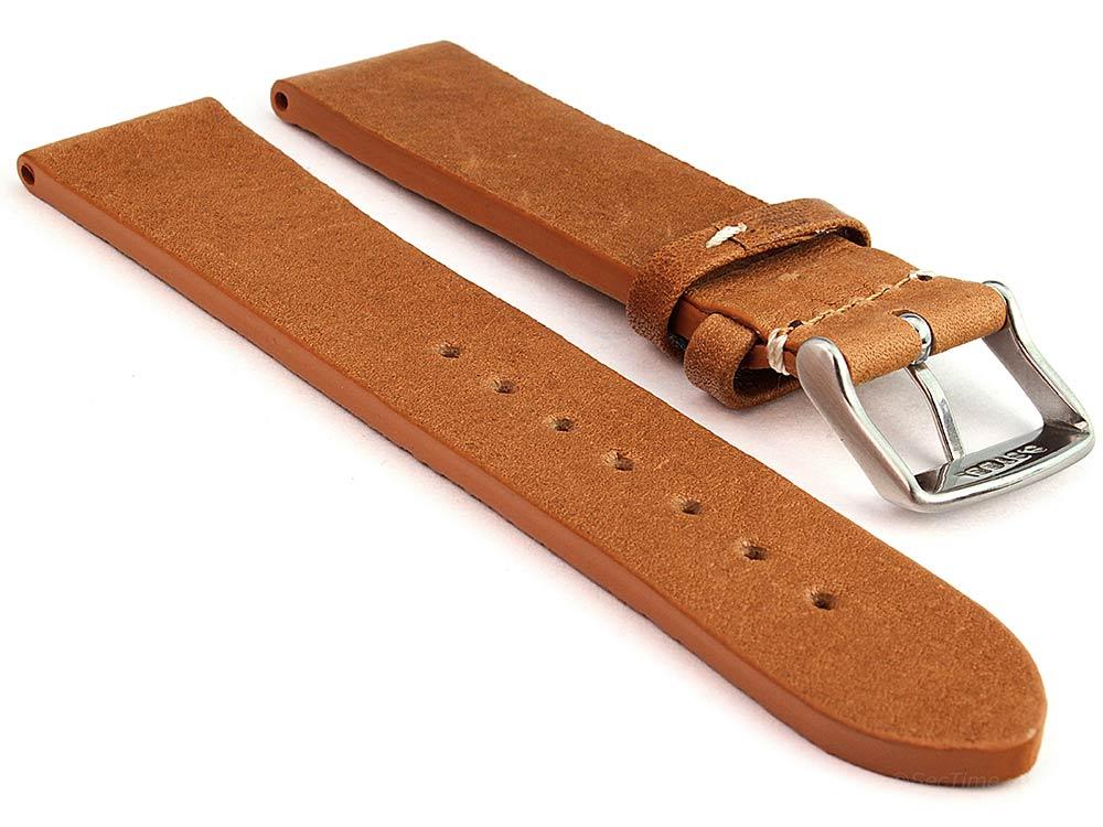 Genuine Leather Watch Strap Band Prague Brown 02