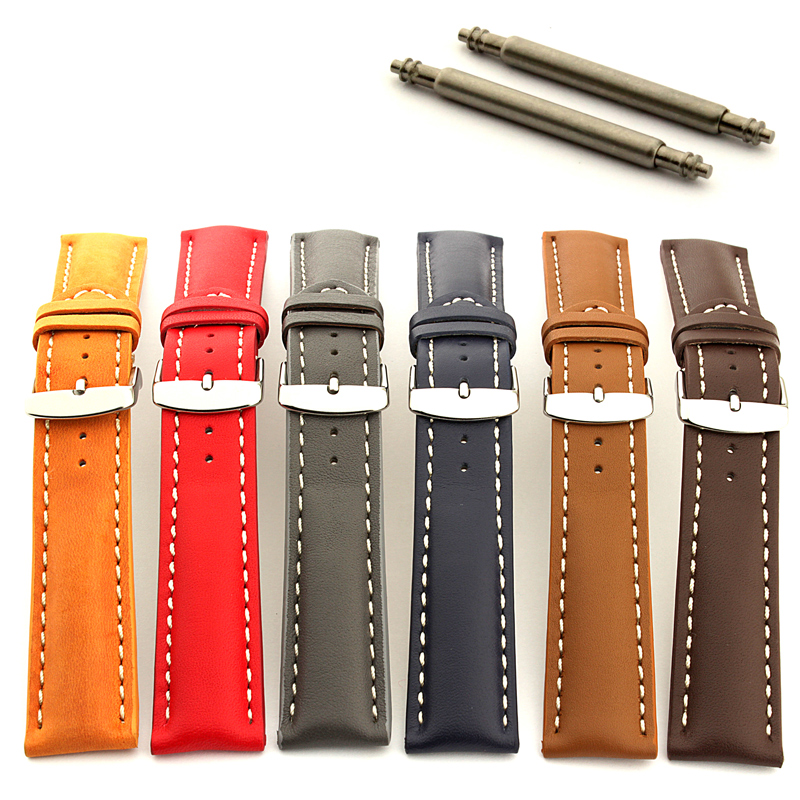 Mens-Padded-Genuine-Leather-Watch-Strap-Band-Sahara-Stainless-Steel-Buckle