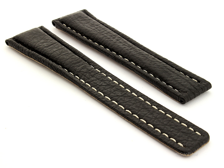 Mens-Genuine-Shark-Skin-Leather-Watch-Strap-for-Breitling-22-18-and-20-18