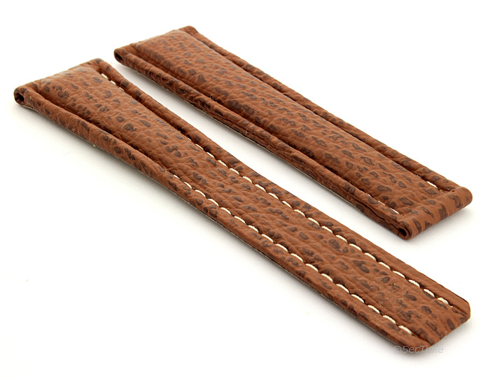 Mens-Genuine-Shark-Skin-Leather-Watch-Strap-for-Breit-22-18-and-20-18