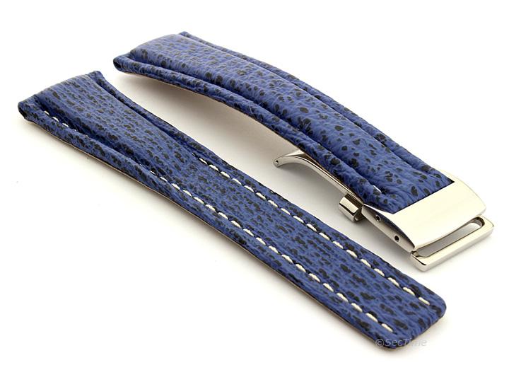 Shark Skin Watch Strap for Breitling Blue 02