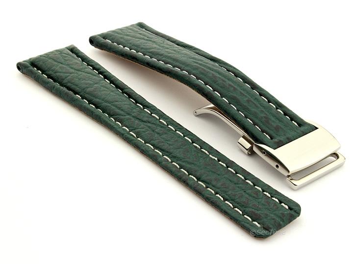 Shark Skin Watch Strap for Breitling Green 02