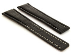 Shark Skin Watch Strap for Breitling Black 20mm/18mm