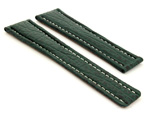 Shark Skin Watch Strap for Breitling Green 20mm/18mm