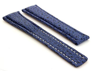 Shark Skin Watch Strap for Breitling Blue 20mm/18mm