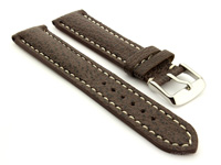 Shark Leather Watch Strap Dark Brown VIP 01
