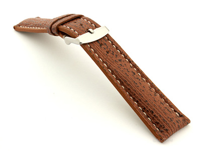 Shark Leather Watch Strap VIP Brown 20mm