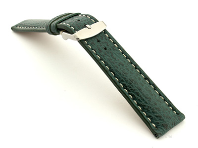 Shark Leather Watch Strap VIP Green 20mm