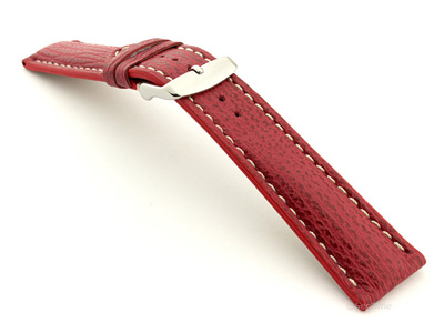 Shark Leather Watch Strap VIP Red 20mm