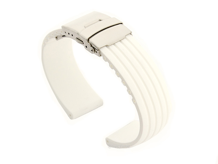 Silicone-Rubber-Watch-Strap-Band-Waterproof-Deployment-Clasp-GS-Spring-Bars