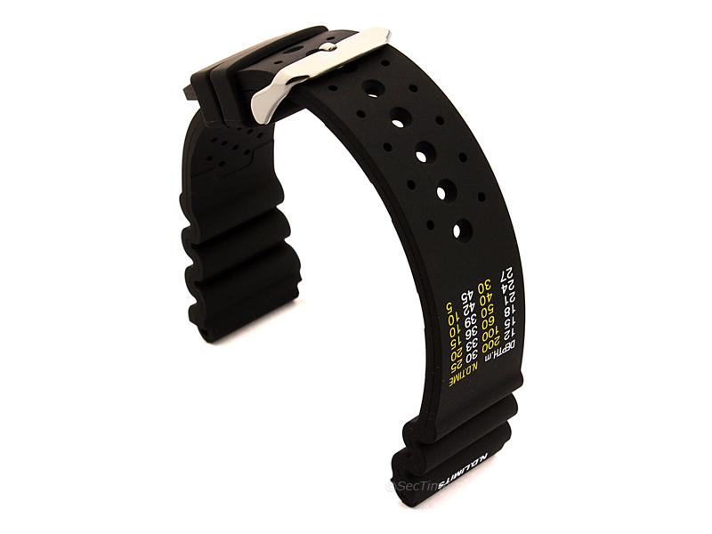 Citizen / Seiko Silicone Rubber Watch Strap Pro Waterproof Black 02
