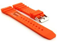 Citizen / Seiko Silicone Rubber Watch Strap Pro Waterproof Orange-N.D.LIMITS 01