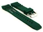 Citizen / Seiko Silicone Rubber Watch Strap Pro Waterproof Green-N.D.LIMITS 01