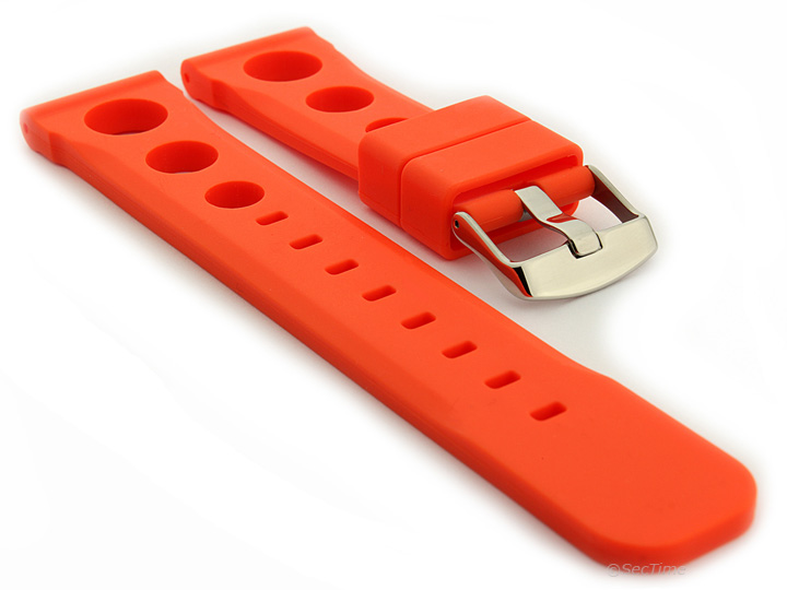 Mens-Silicone-Rubber-Watch-Strap-Band-Perforated-Resin-SH-Spring-Bars-S-S-Buckle