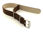 Suede Leather Nato Watch Strap Dark Brown 01