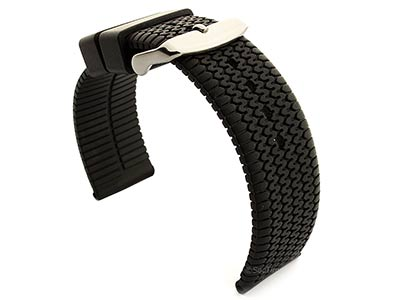 Silicone Watch Strap Summer Tread Black 01