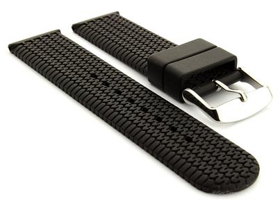 Silicone Watch Strap Summer Tread Black 01