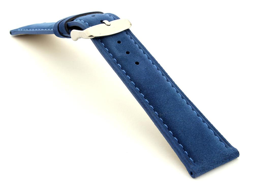 Suede Genuine Leather Watch Strap Teacher Blue 03