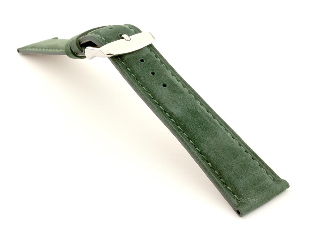 Suede Genuine Leather Watch Strap Teacher Green 03
