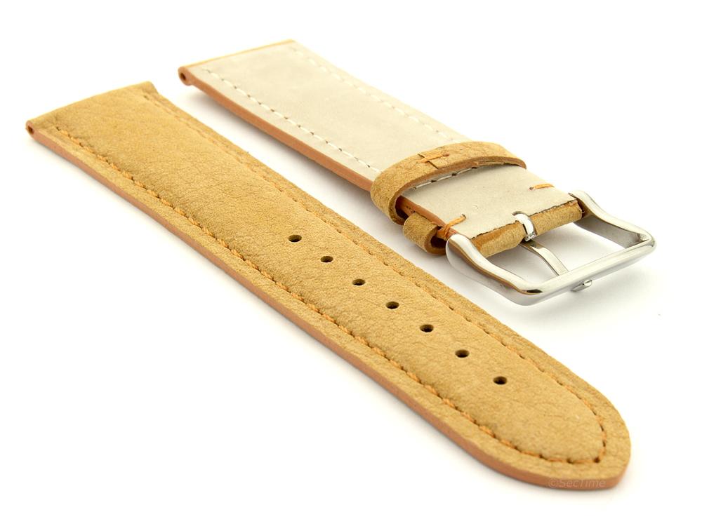 Suede Genuine Leather Watch Strap Teacher Light Brown 02