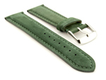 Suede Genuine Leather Watch Strap Teacher Green 19mm