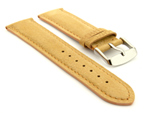 Suede Genuine Leather Watch Strap Teacher Light Brown 19mm