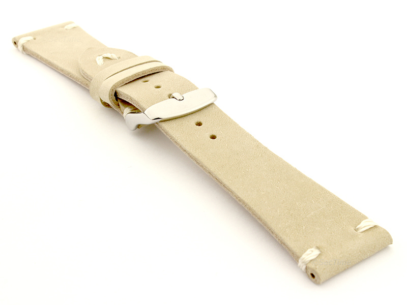 Genuine Leather Watch Strap in Oldfangled Style Texas Beige 03