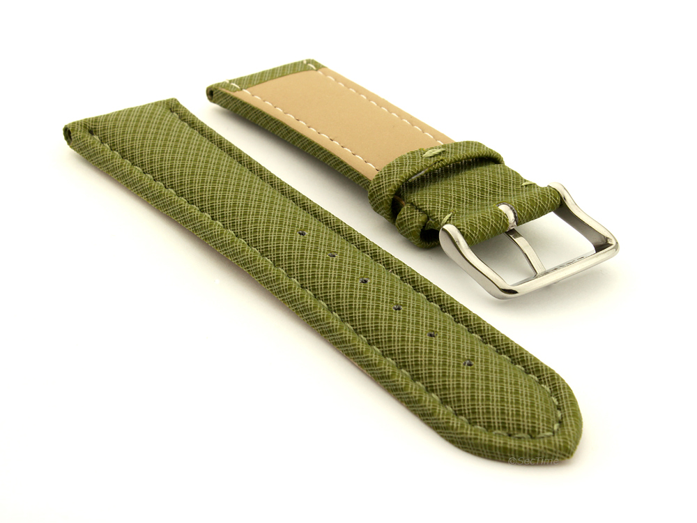 Synthetic Waterproof Watch Strap Toulon Green 02