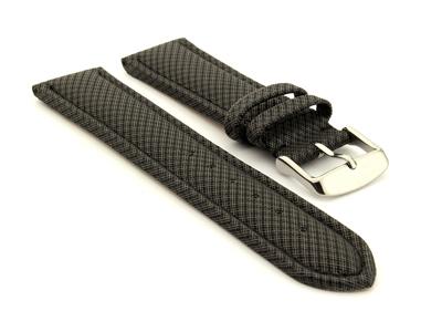 Synthetic Waterproof Watch Strap Toulon Black 20mm
