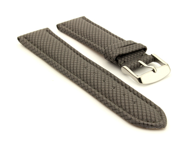 Synthetic Waterproof Watch Strap Toulon Grey 18mm