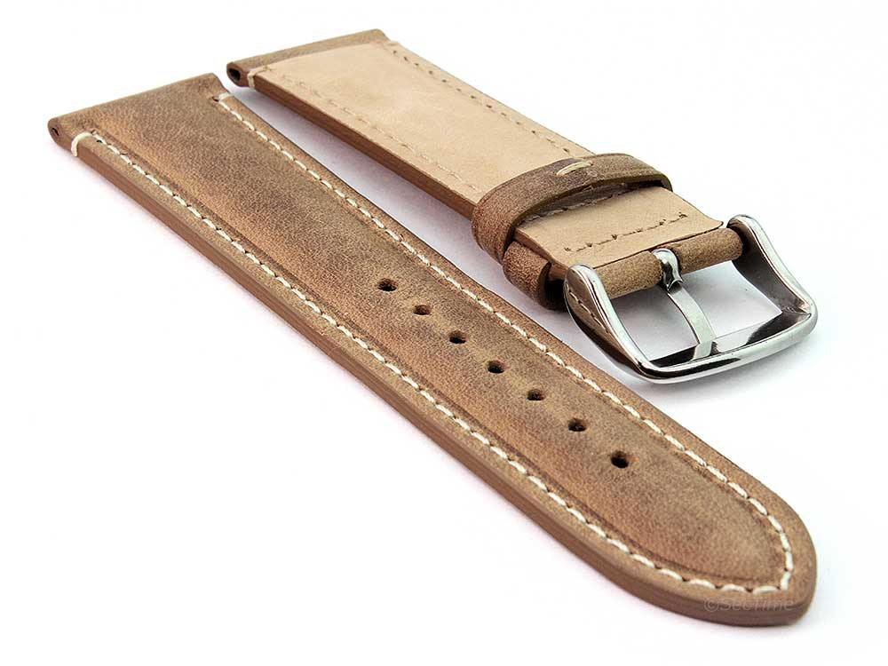Genuine Leather Watch Strap Band Tourist Brown 02