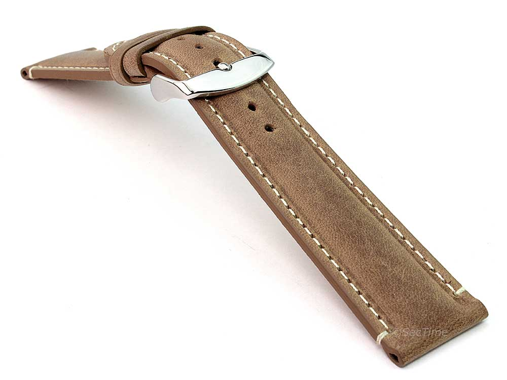 Genuine Leather Watch Strap Band Tourist Brown 03