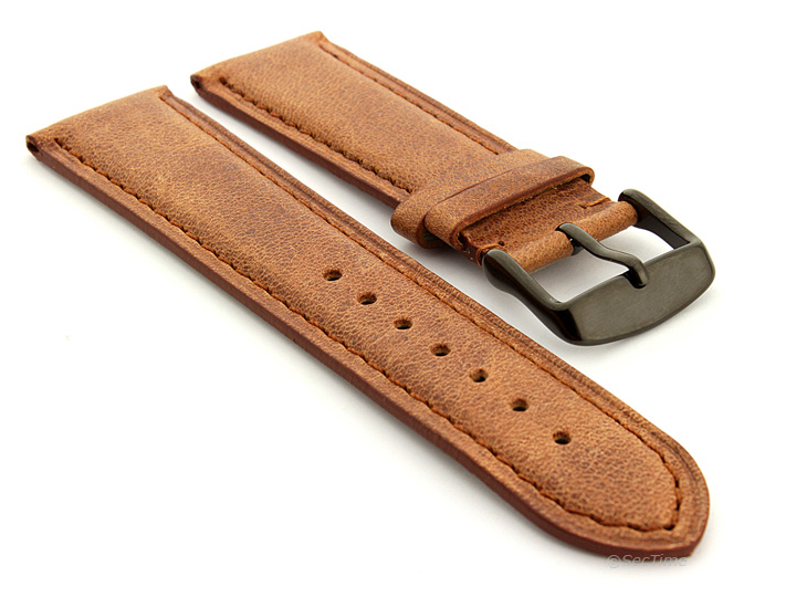9ca3df9e225 Men s Two-piece Genuine Leather Watch Strap Band 18 19 20 21 22 24 ...