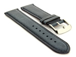 Leather Watch Strap Twister Blue / Blue 20mm