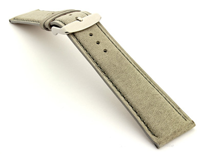 Leather Watch Strap Twister Grey / Grey 24mm