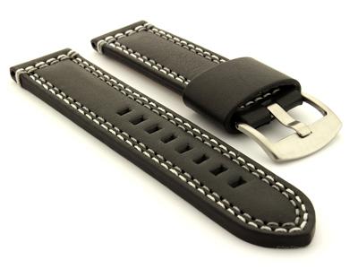 Genuine Leather Watch Strap Valentin Black 01