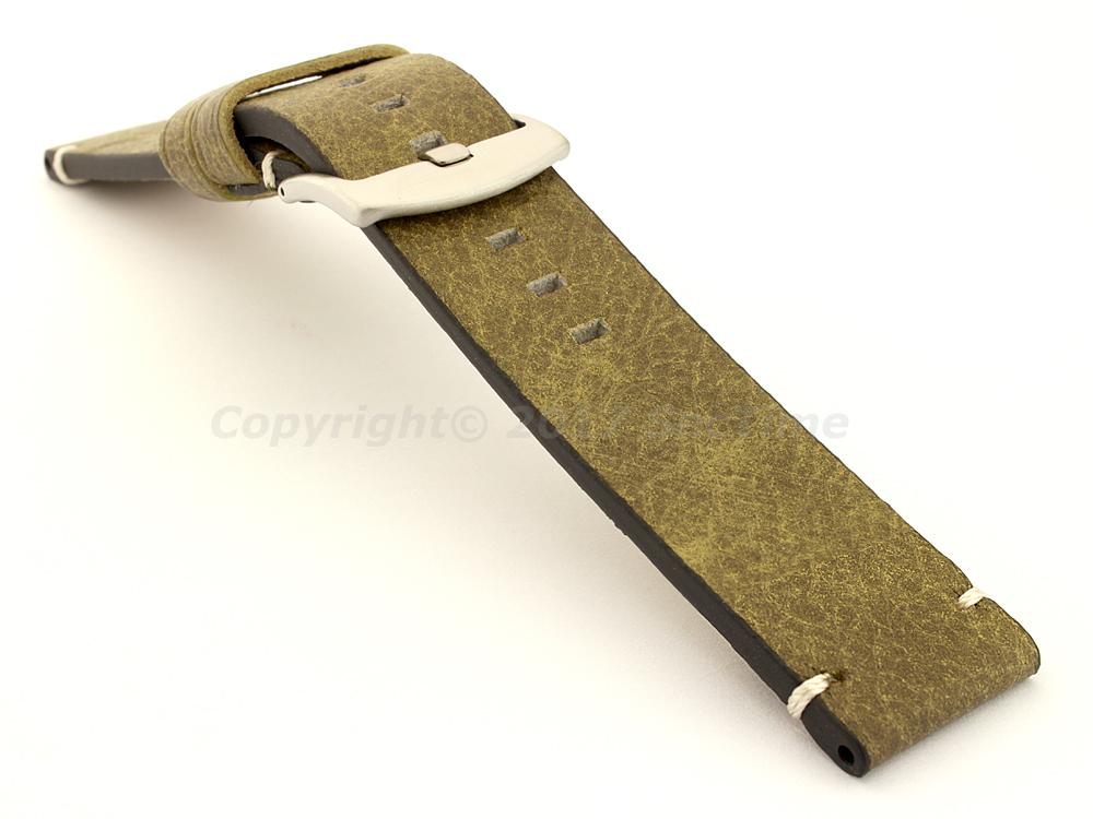 Vintage Paris Genuine Leather Watch Strap Green 03