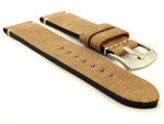 Vintage Paris Genuine Leather Watch Strap Beige 01