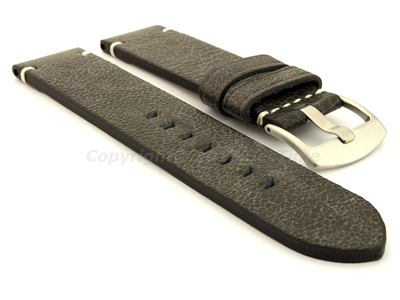 Genuine Leather Watch Strap Vintage Paris Black 22mm