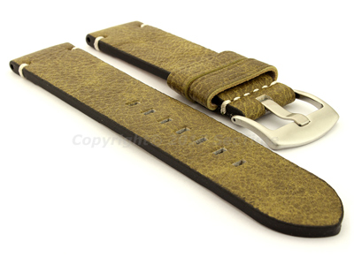 Genuine Leather Watch Strap Vintage Paris Green 22mm