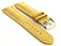 Leather Watch Strap VIP Alligator Grain Yellow 01