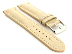 Leather Watch Strap VIP - Alligator Grain Cream 22mm