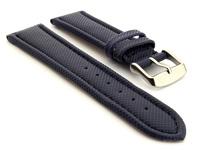 Polyurethane Waterproof Kevlar Style Watch Strap Blue 01