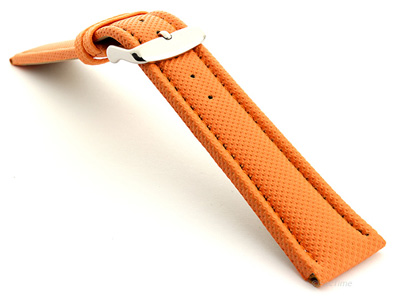 Polyurethane Waterproof Kevlar Style Watch Strap Orange 02