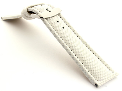 Polyurethane Waterproof Watch Strap White 20mm
