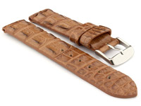 Genuine Alligator Leather Watch Strap FLORIDA Brown 20mm