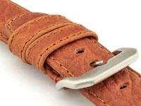 Genuine Buffalo Leather WATCH STRAP Bizon Brown/Brown 22mm