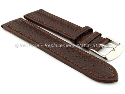 Watch Strap Band Freiburg RM Genuine Leather 28mm Dark Brown/Brown