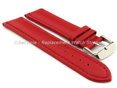 Watch Strap Band Freiburg RM Genuine Leather 28mm Red/Red